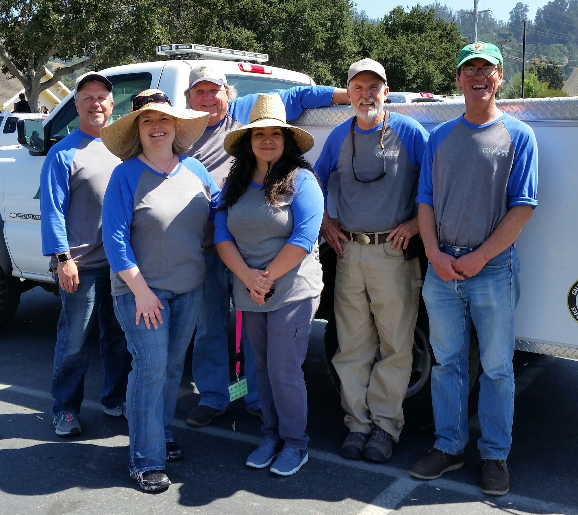 The AWD Board & Staff on Aromas Day before the Parade