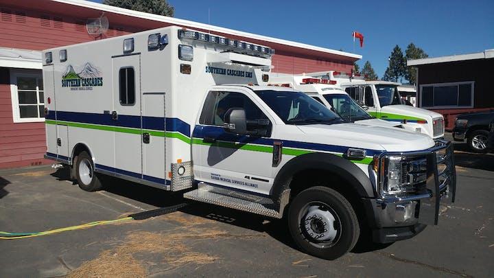 May contain: transportation, truck, vehicle, van, and ambulance