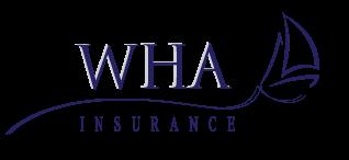 WHA Insurance logo with sailboat