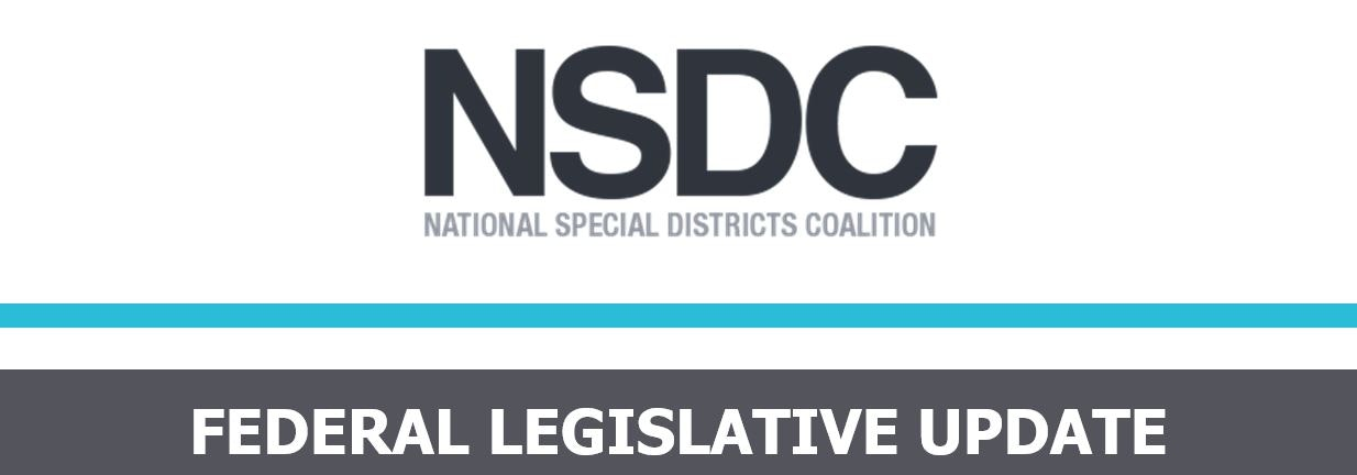 contains text: NSDC, National Special districts Coalition, Federal Legislative Update