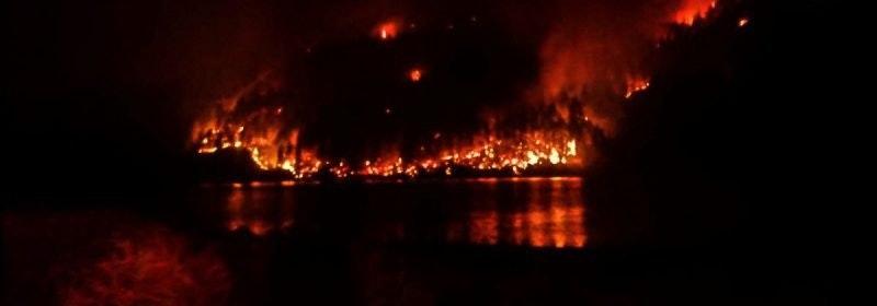 Fire at Ruth Lake 2020