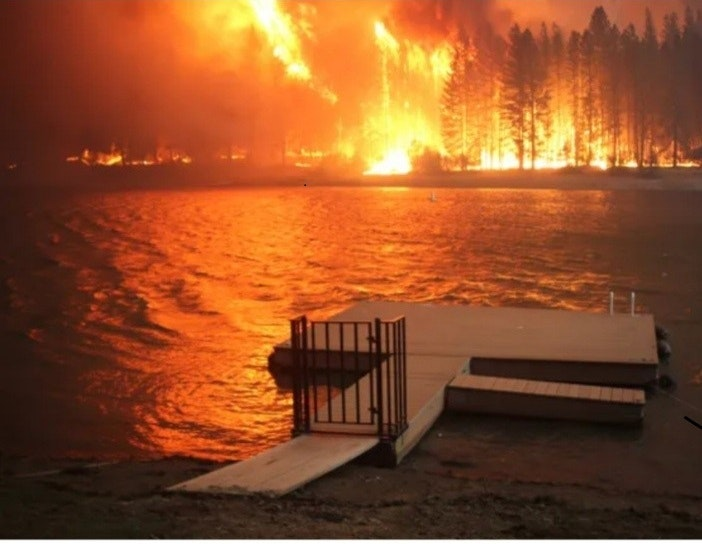 August Complex burns at Ruth Lake 9/27/2020