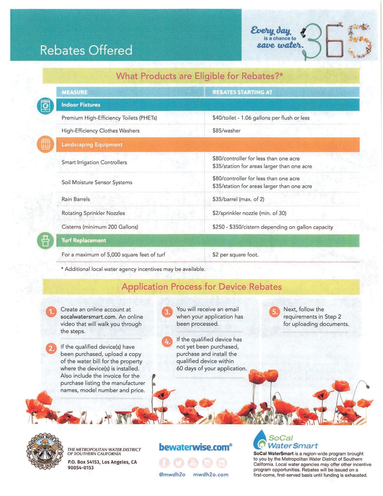 Rebate Information page 2