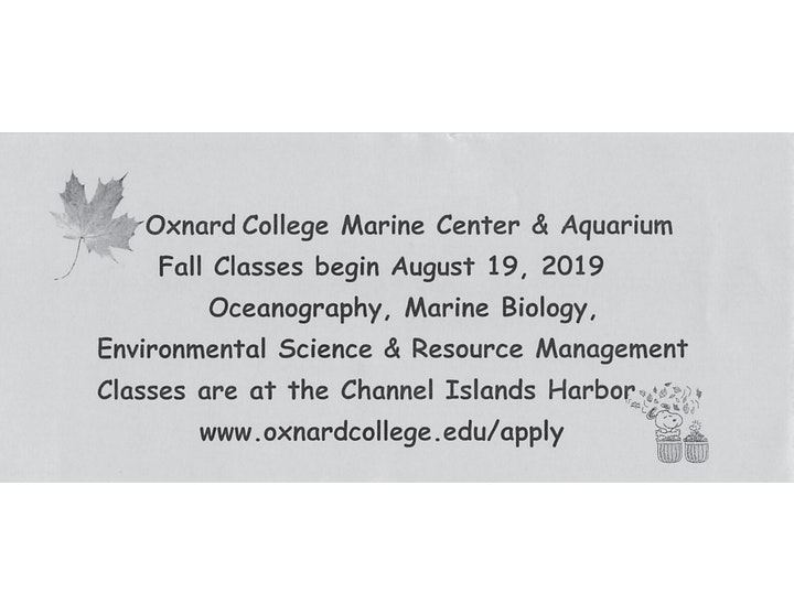 Oxnard College Fall Classes page 1