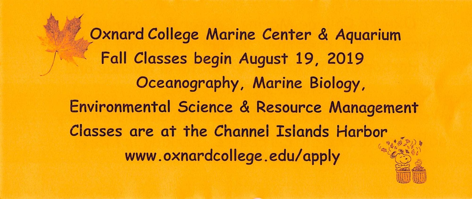 Oxnard College Flyer