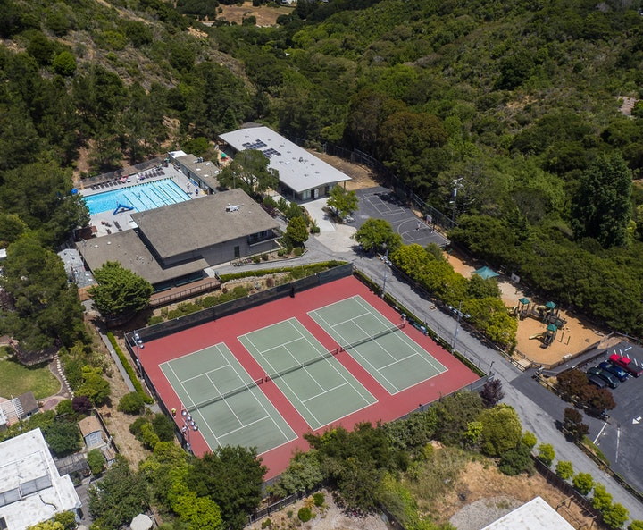 tennis court, landscape, nature, and outdoors