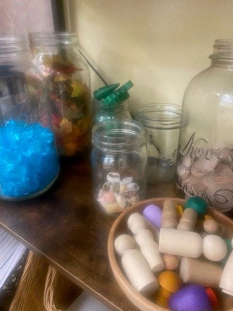 May contain: jar