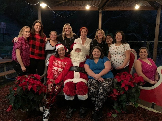 Staff picture from Holiday Party