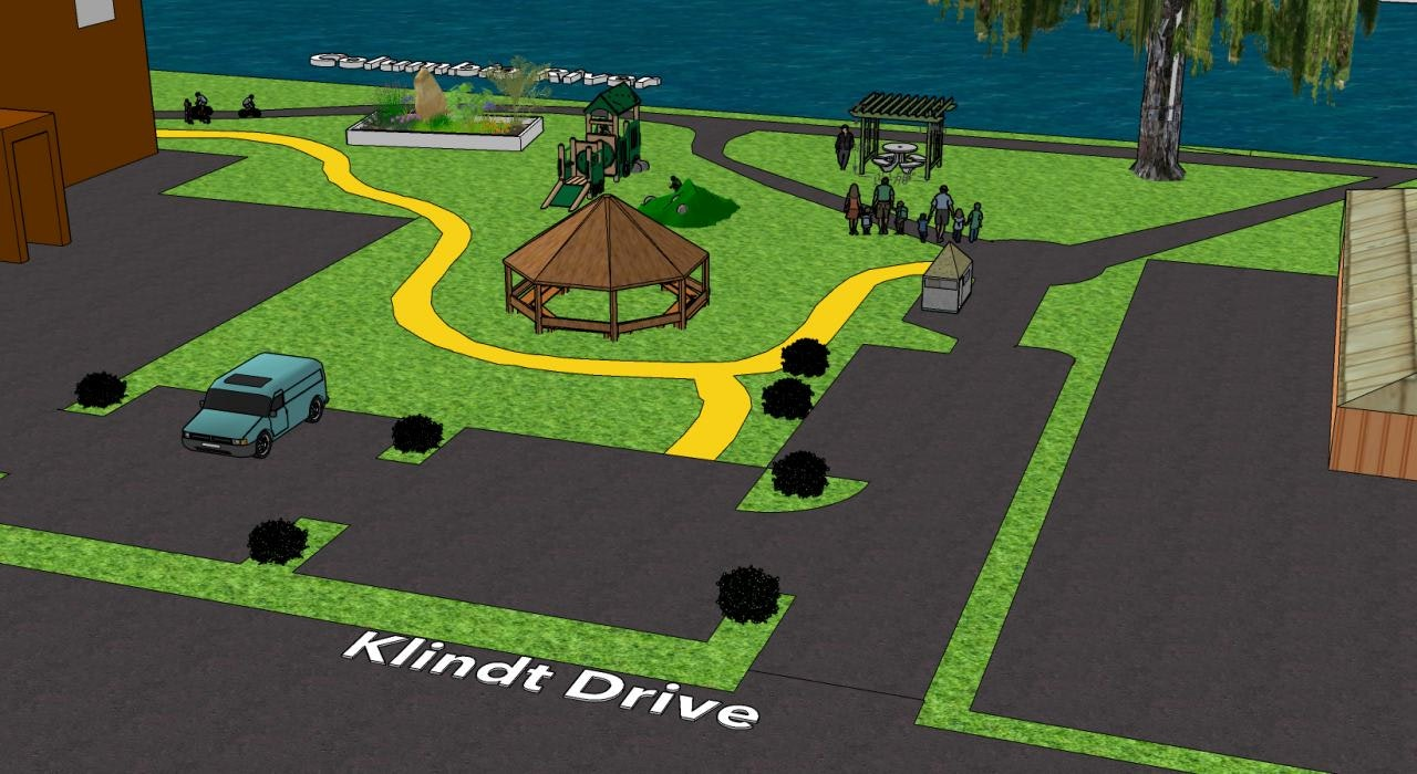 A sketch of the expansion of Klindt Cove Kiwanis Park
