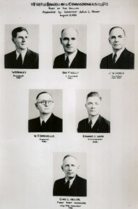 Historical document with 6 black-and-white portraits of men in suits