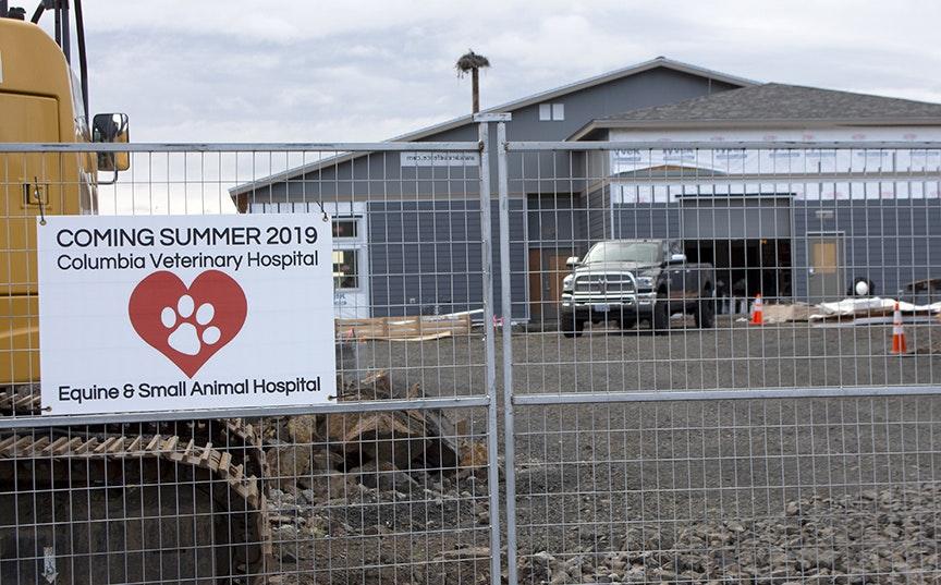 Columbia Veterinary Hospital building under construction