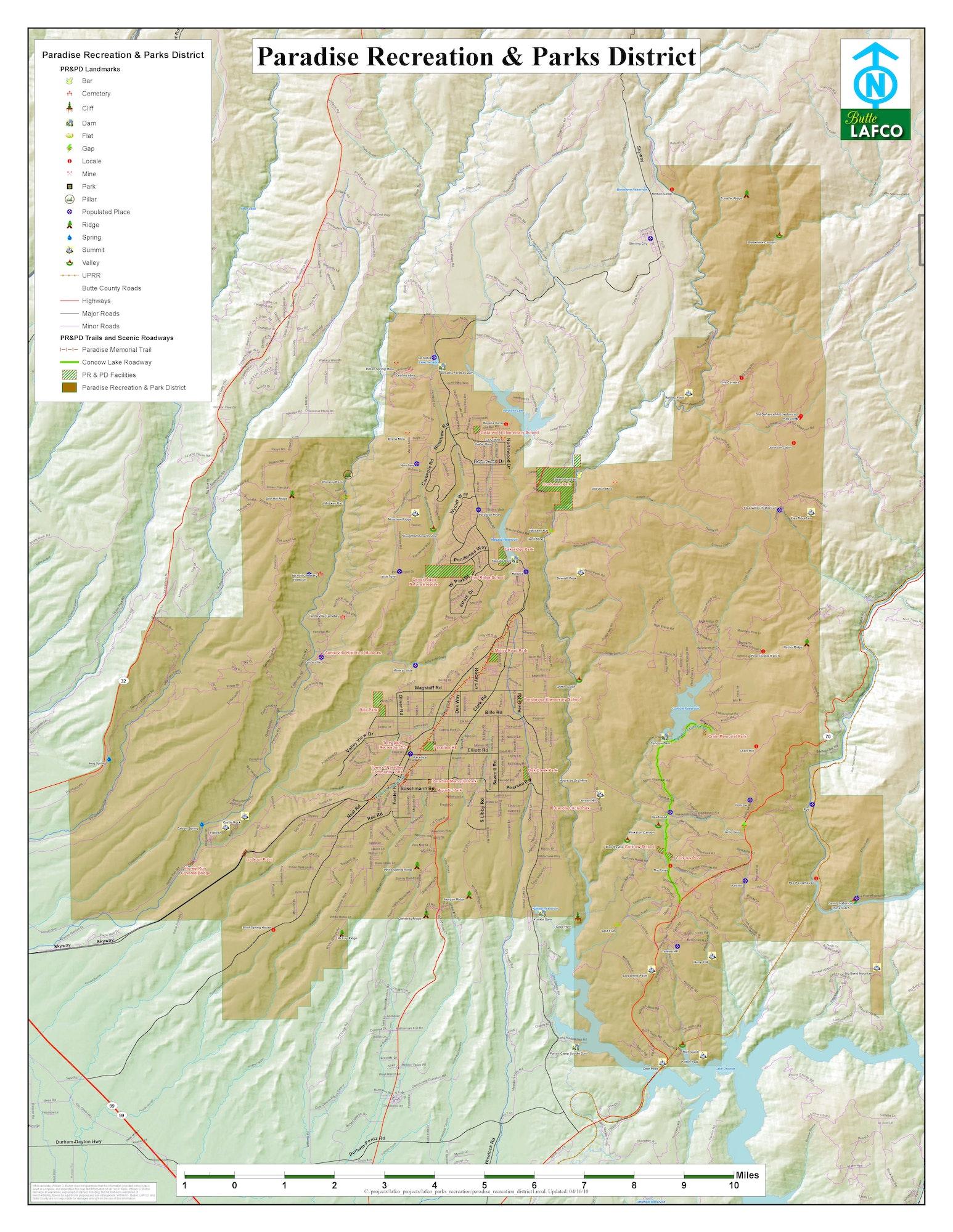 PRPD District Boundaries Map