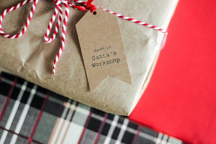 table cloth, santa's workshop