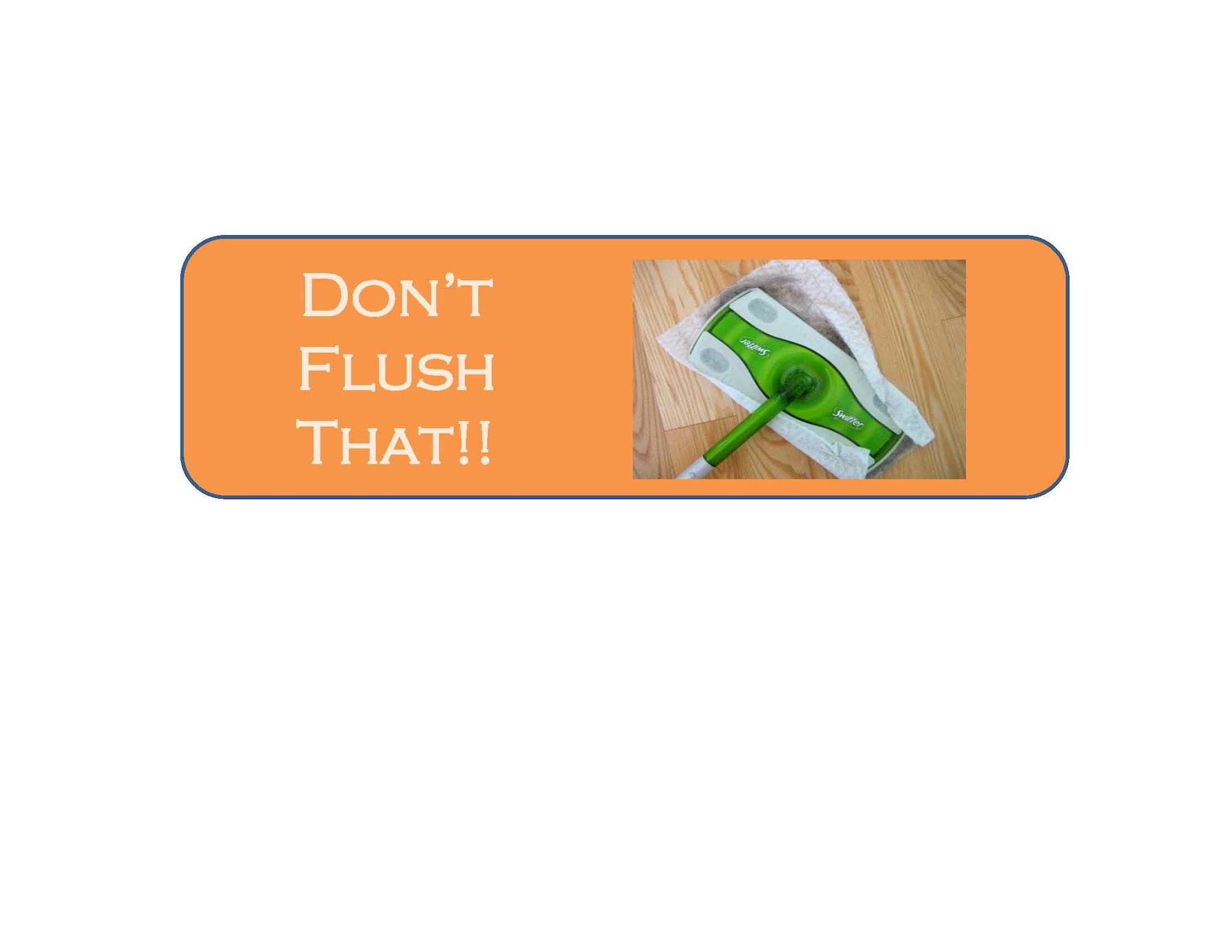 Don't Flush That!! Banner