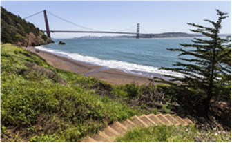May contain: building, bridge, and suspension bridge