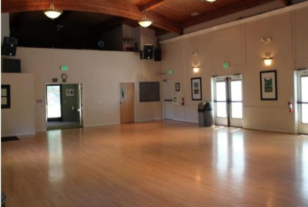 Picture of the Tam Valley Community Center facing away from the stage.