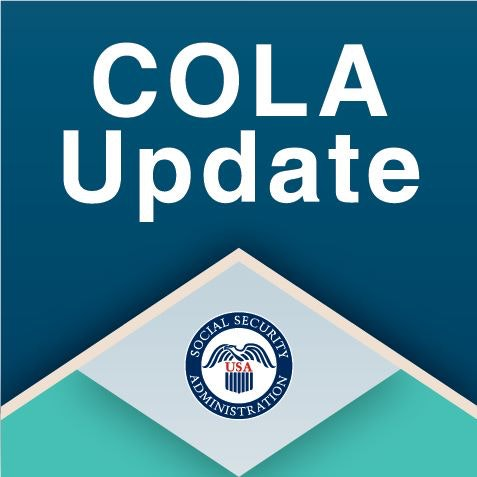 social security administration logo with the phrase cola update