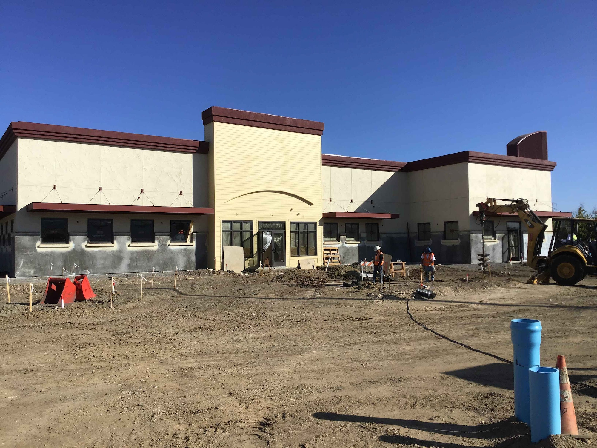 Progress of new Valley Springs Health & Wellness Center