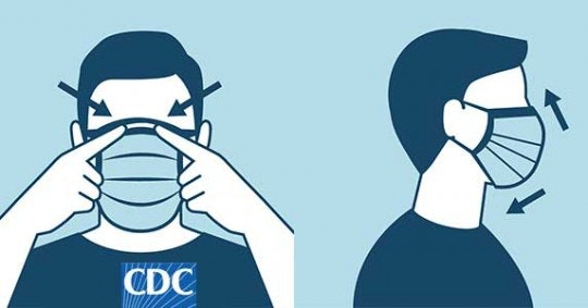 person wearing a mask - from CDC