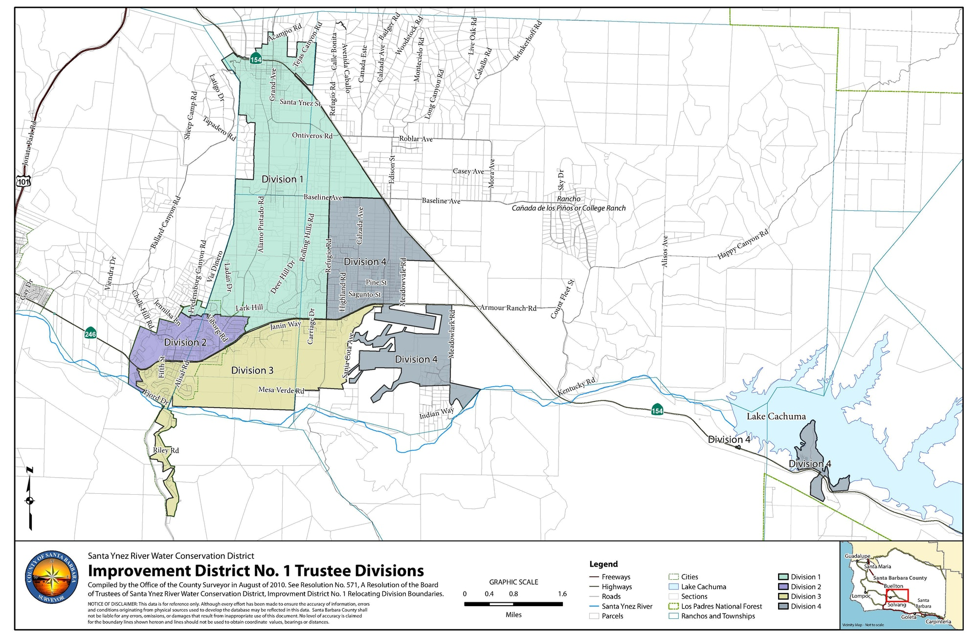 Trustee Division Map of SYRWCD Improvement District No. 1