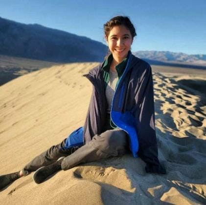 May contain: soil, sand, nature, outdoors, desert, dune, person, and human
