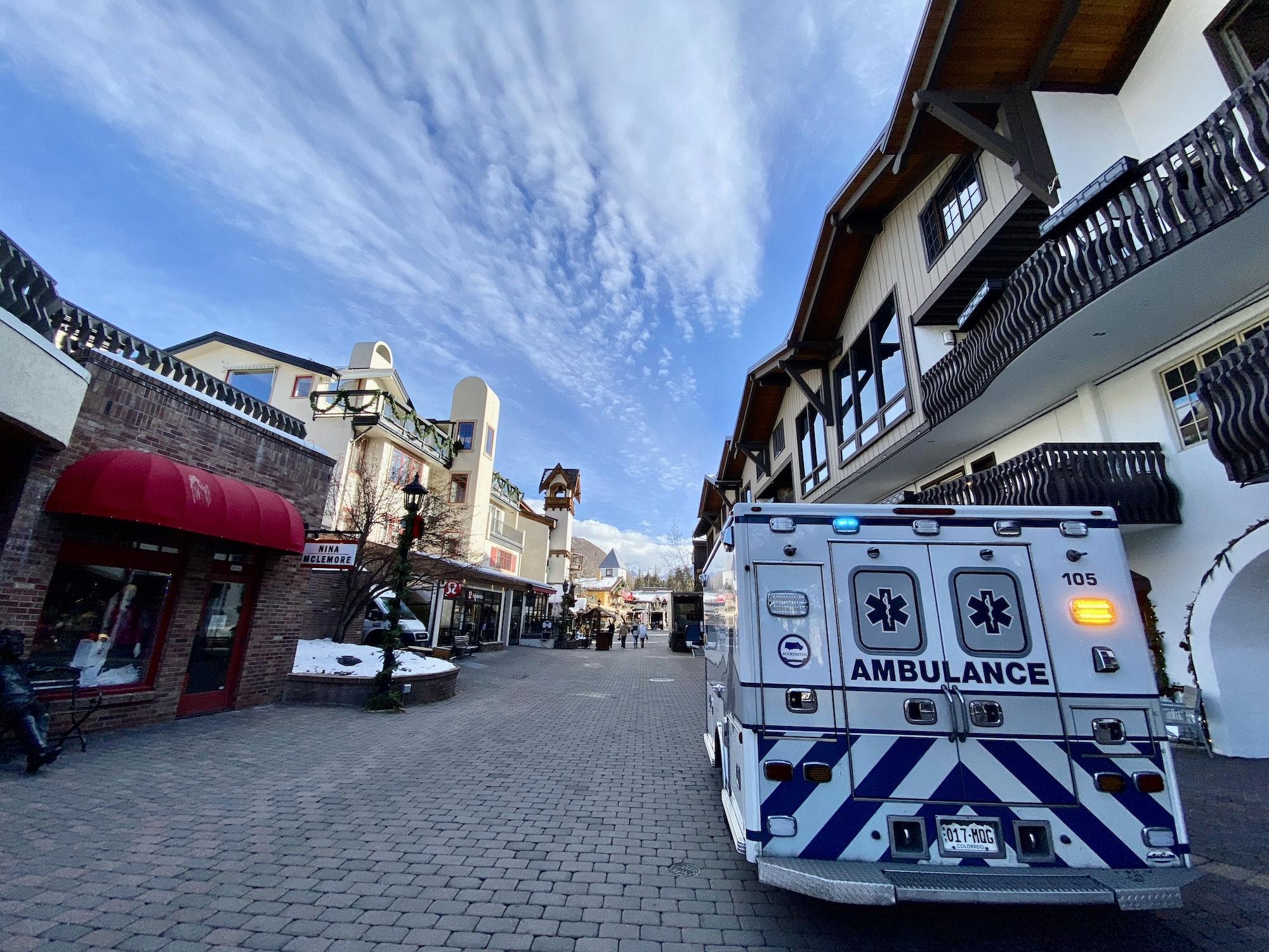 ECPS Amubulance parked in Vail Village