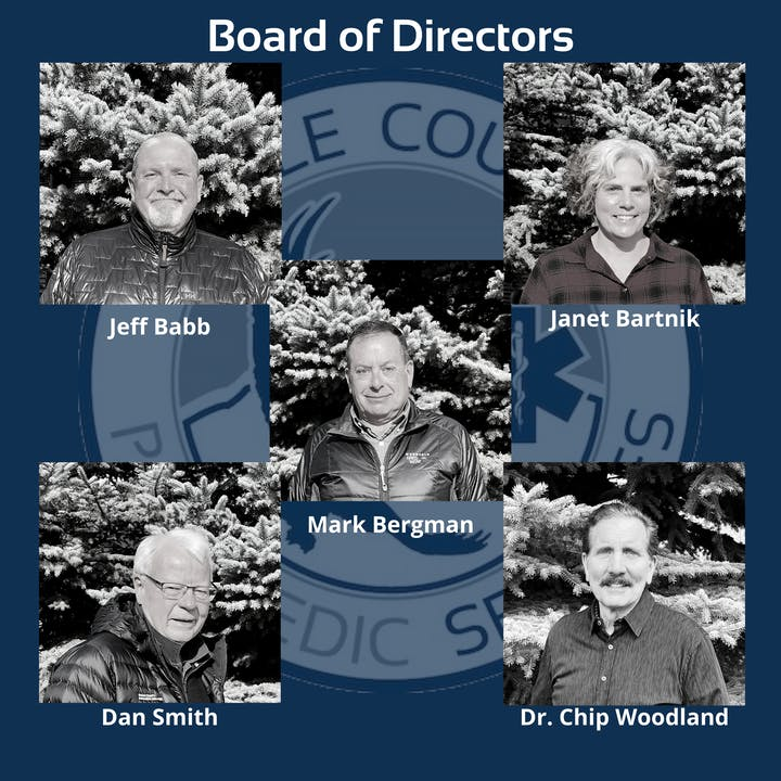 A collage of the ECPS Board members photos with logo