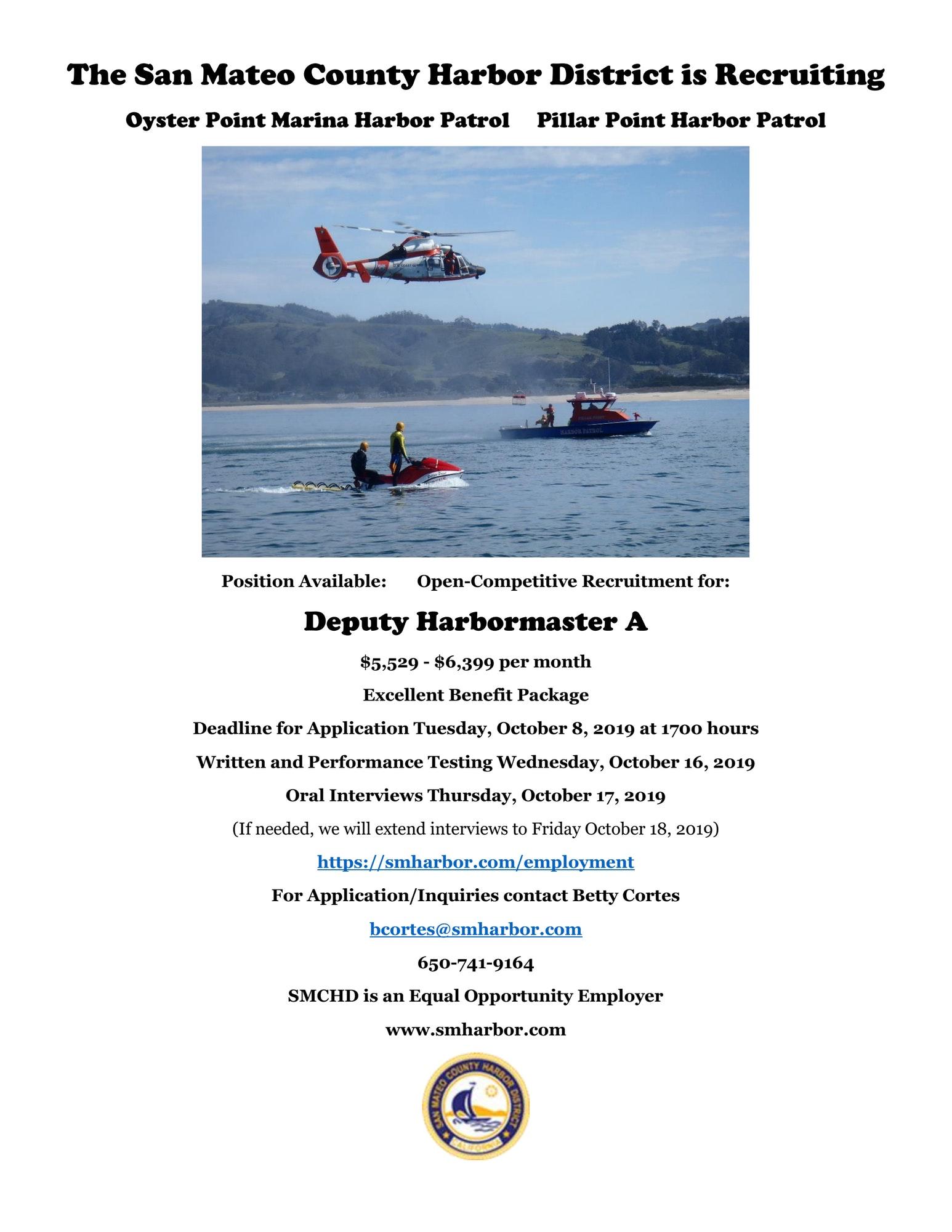 Job posting for Deputy Harbor Master