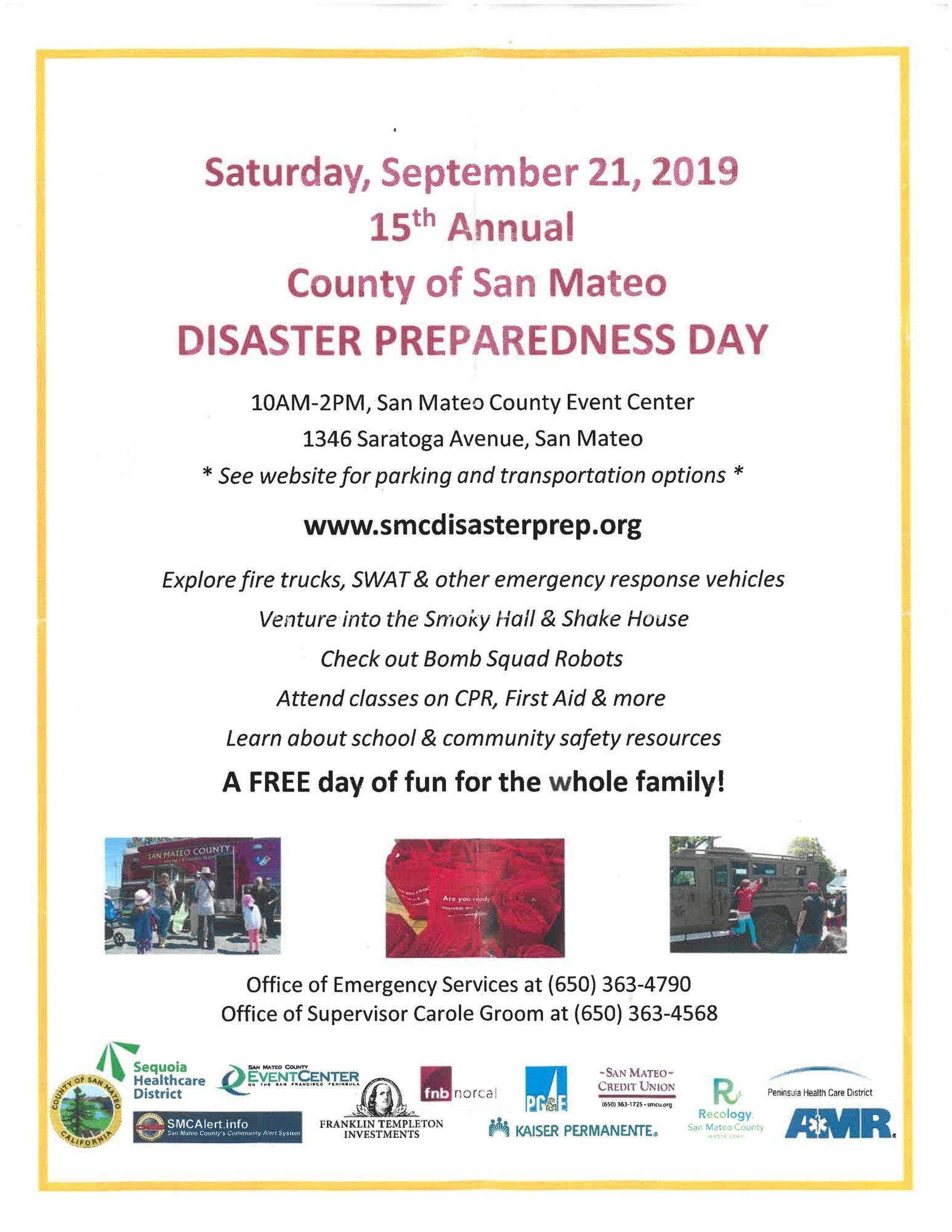 Disaster Preparedness 2019 Flyer