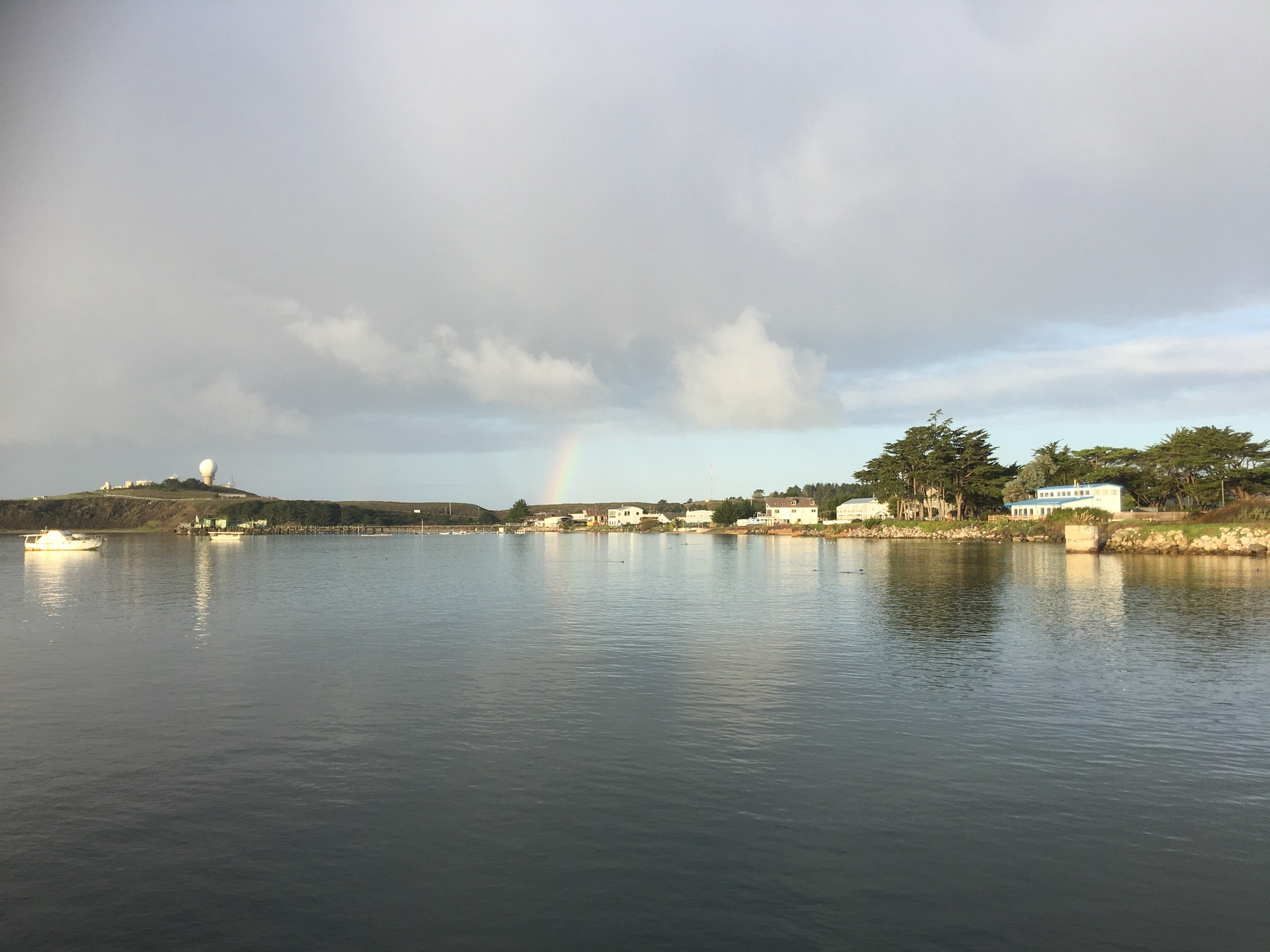 Image rainbow over Pillar Point Harbor