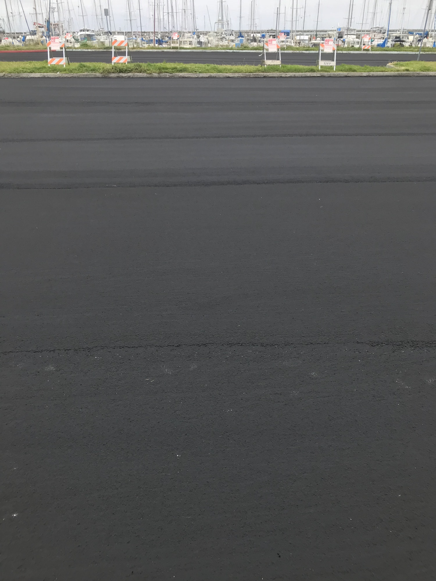 Image newly paved parking lot