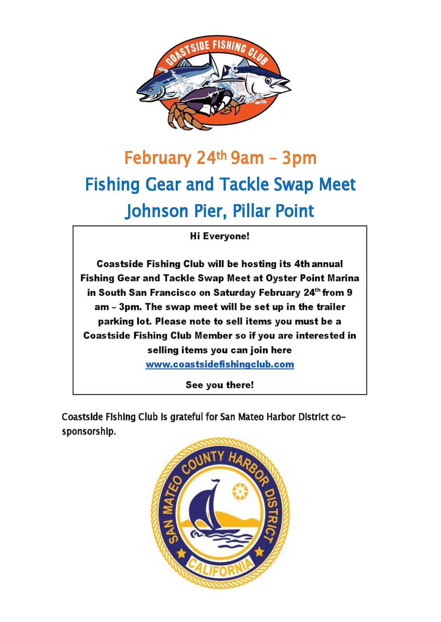 News and announcements san mateo county harbor district for Coastside fishing club