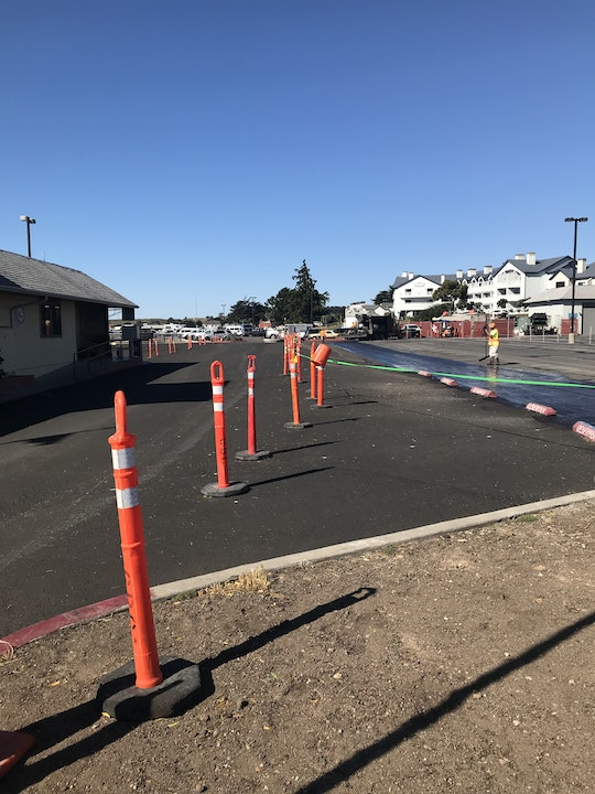 Image of paved parking lot
