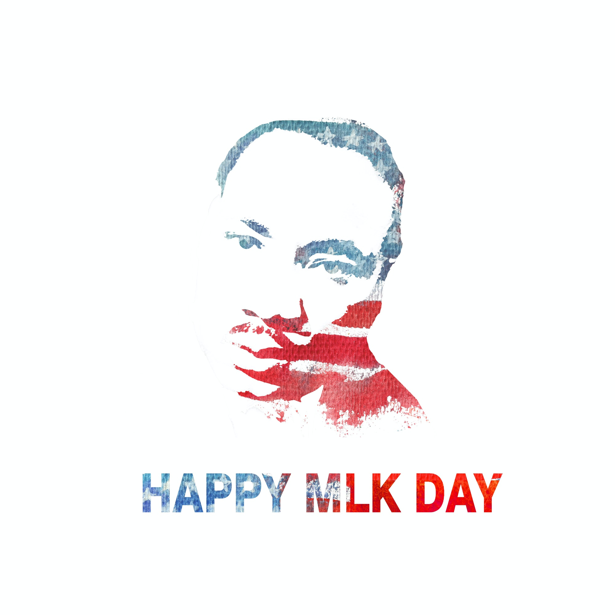 happy mlk day logo