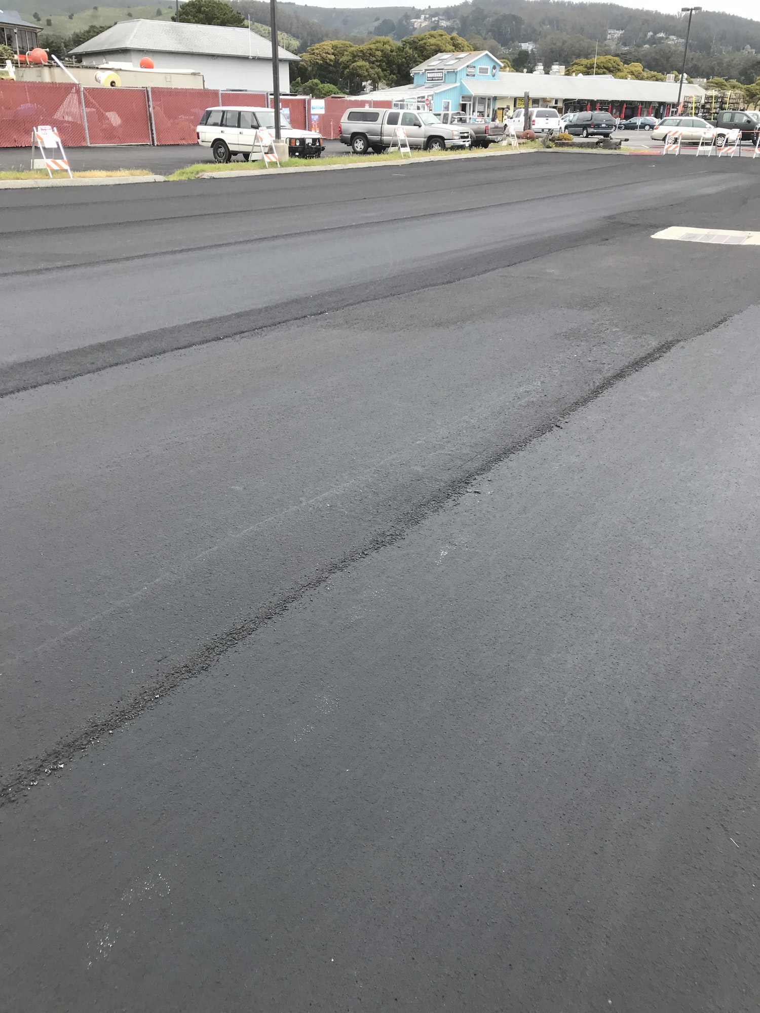 Image newly paved parking lot