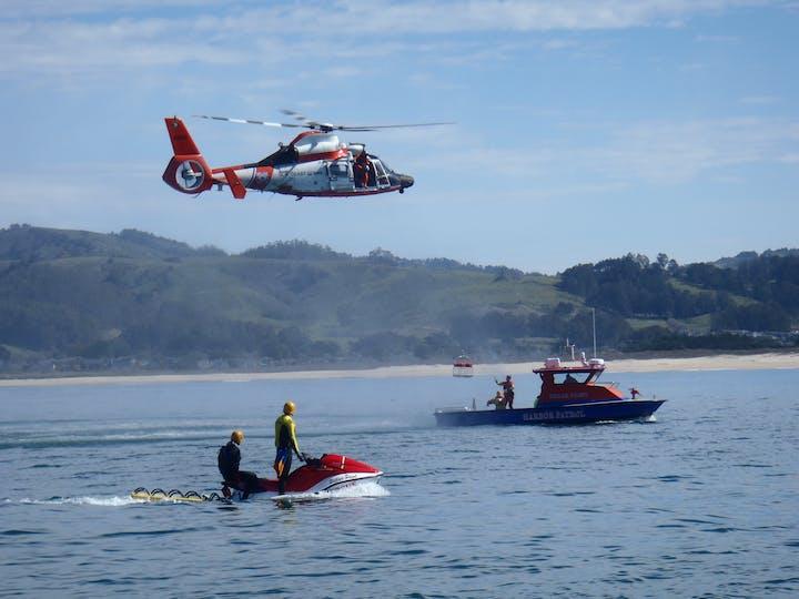 Pillar Point Harbor Rescue staff