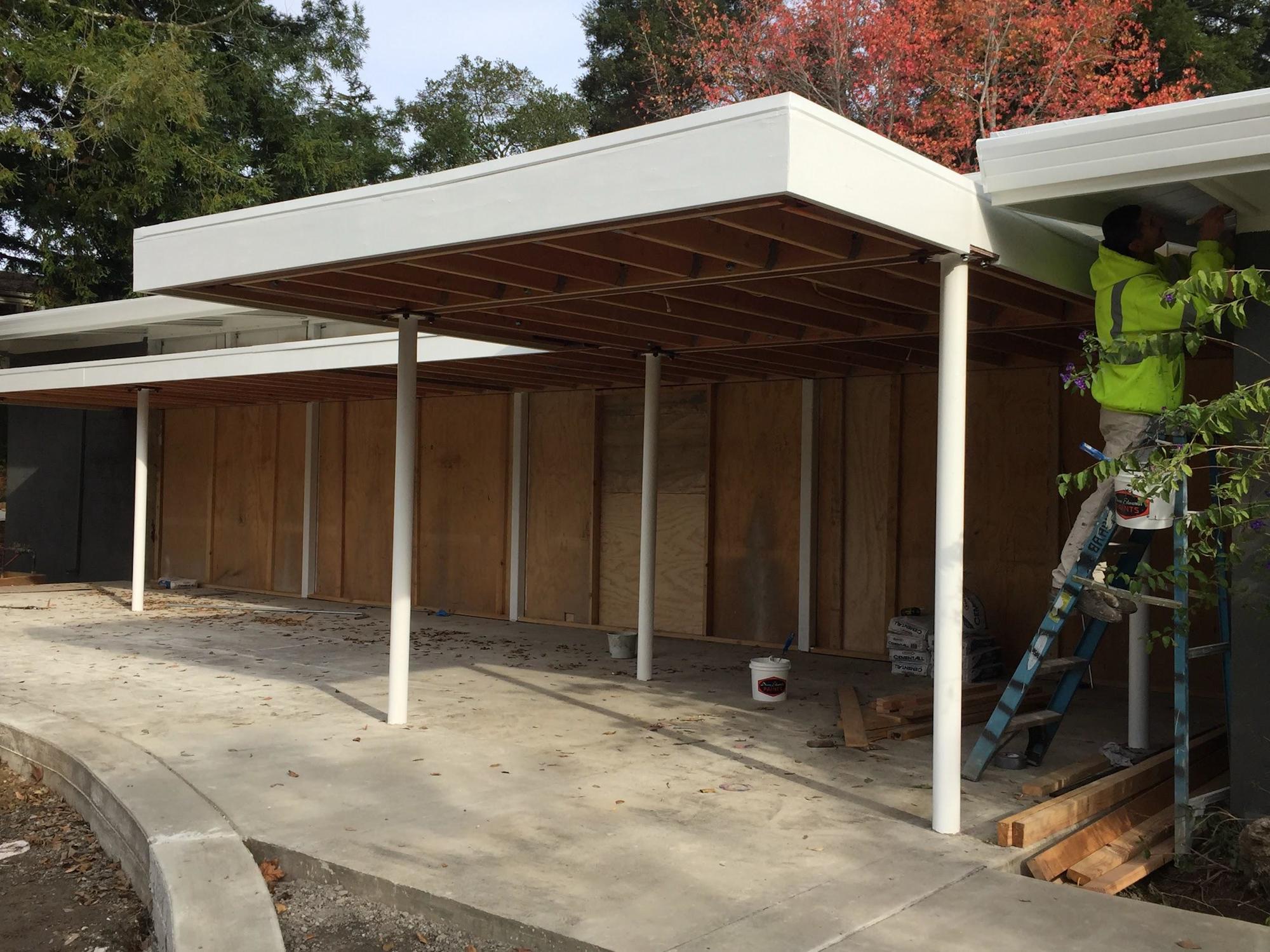 May contain: patio, porch, and pergola
