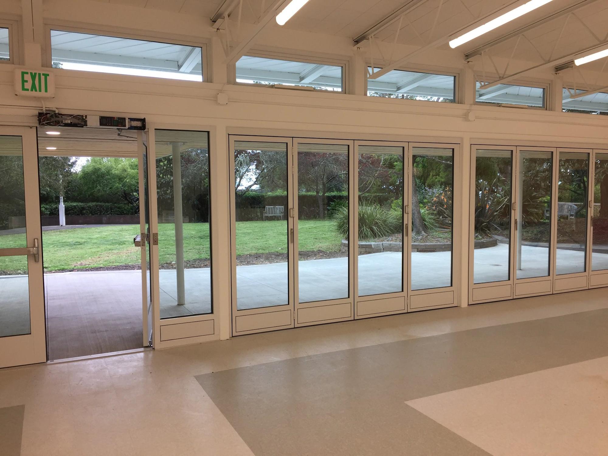 May contain: door, floor, flooring, and folding door