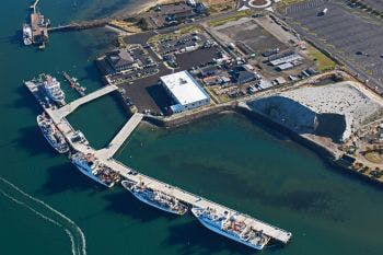 Aerial photo of the NOAA pier