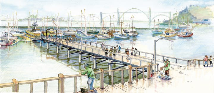 Artist rendering of the Port Dock 5 Pier Access project.