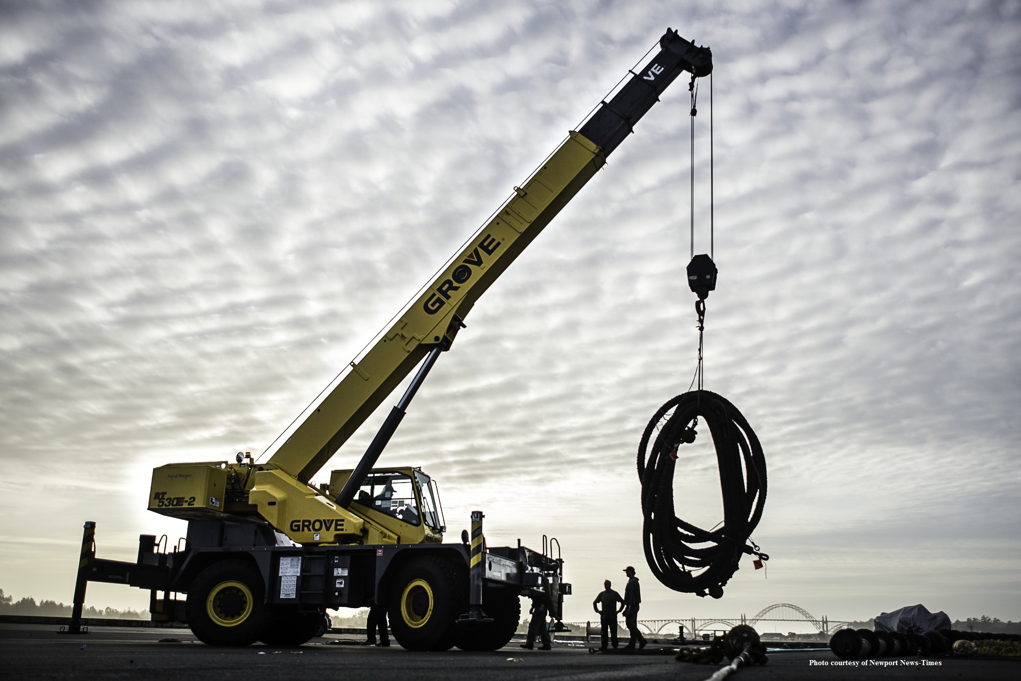 Crane lifting cable