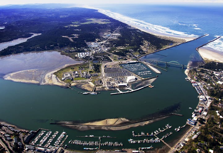 Aerial overvew of Port of Newport