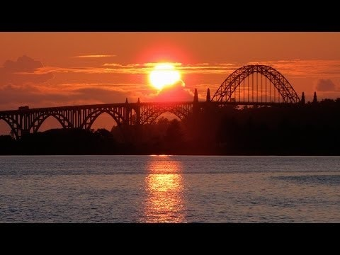 Yaquina Bay Bridge at sunset
