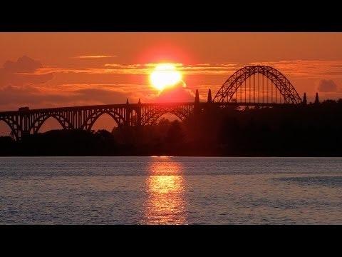 Yaquina Bay Bridge at sunset