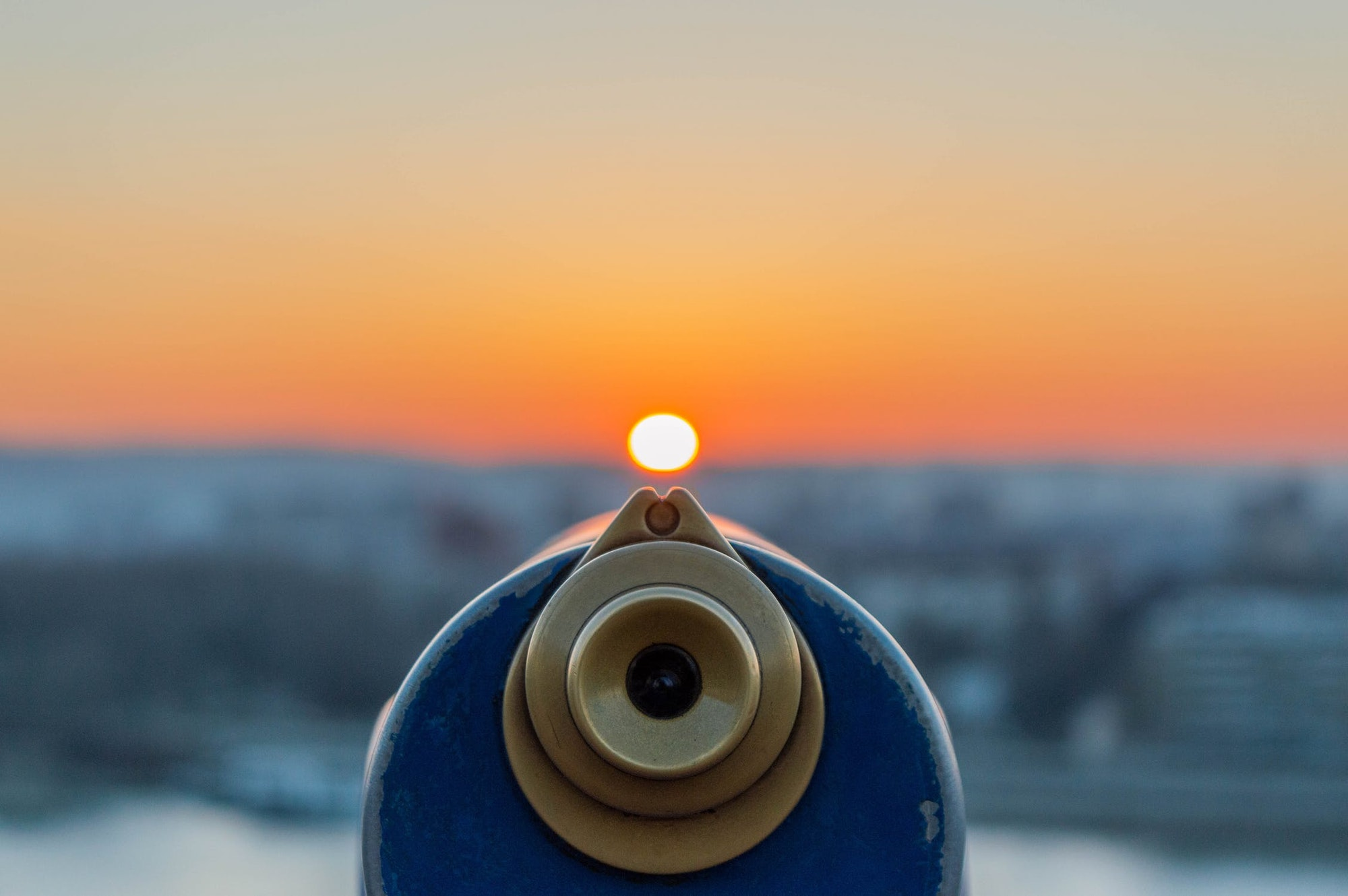 telescope viewing sunset