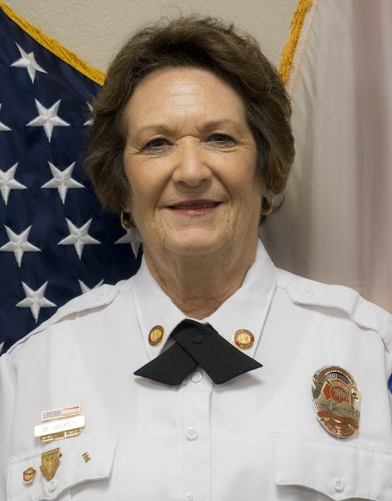 Administrator Mary Hickey in her Class A Uniform.