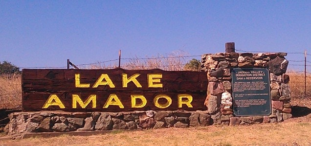 Lake Amador Entrance Sign