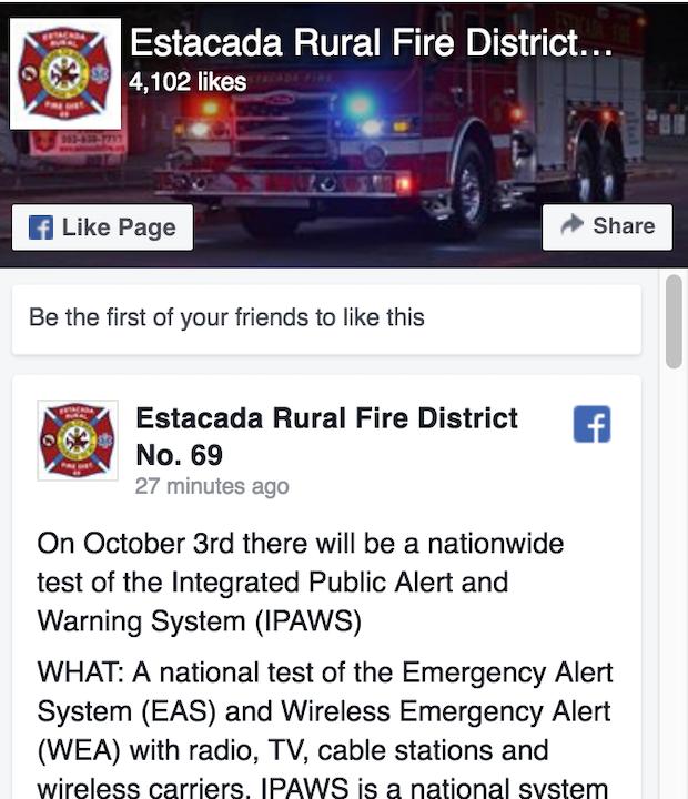 Estacada Rural Fire District No  69
