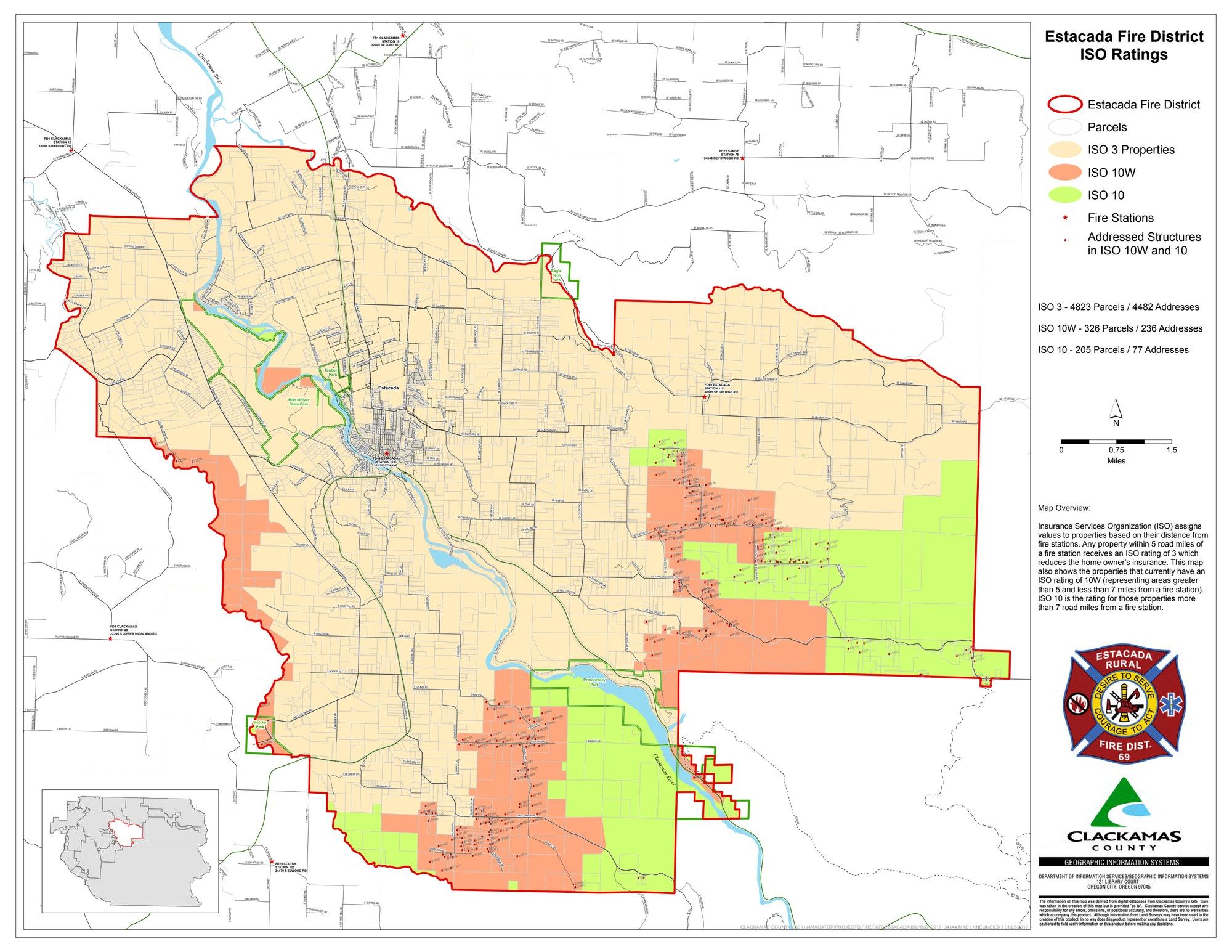 ISO Classification - Estacada Rural Fire District No. 69