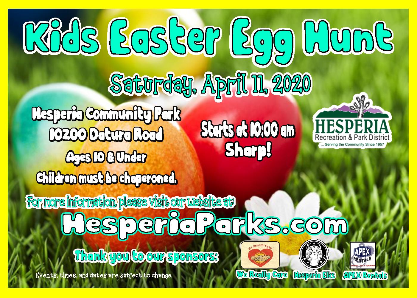 Easter Egg Hunt (Hesperia) @ Hesperia Community Park